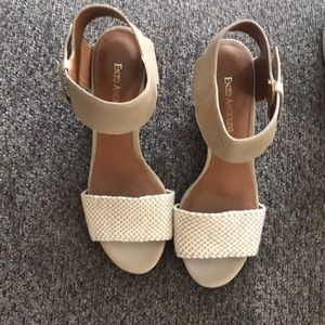 Beige Enzo Angiolini sandals size 8